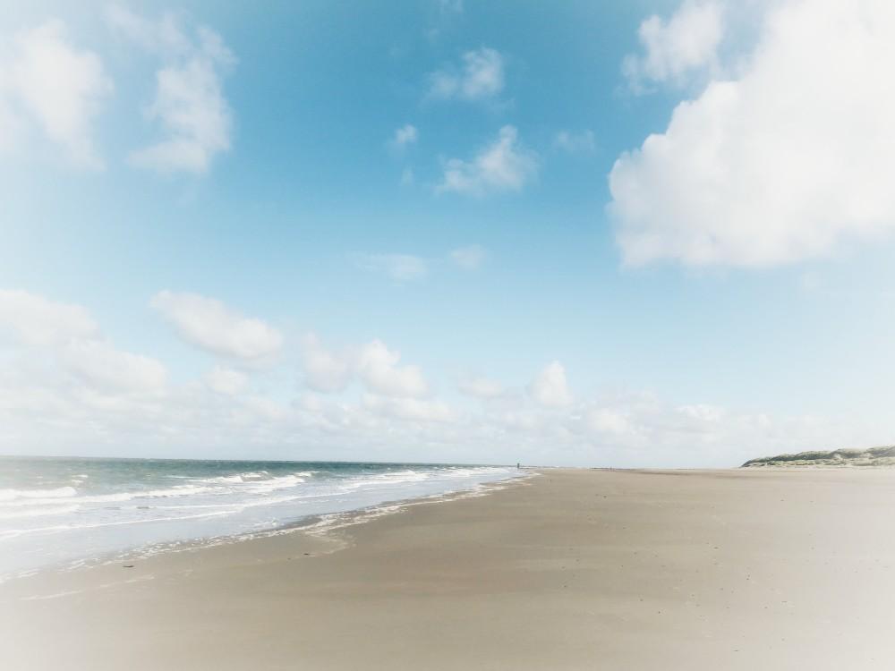 wazige zee